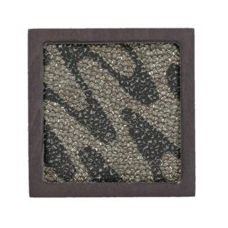 Lentejuela ondulada negra y blanca cajas de recuerdo de calidad