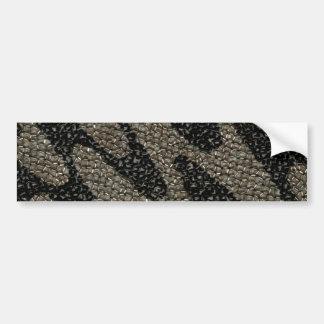 Lentejuela ondulada negra y blanca pegatina para auto