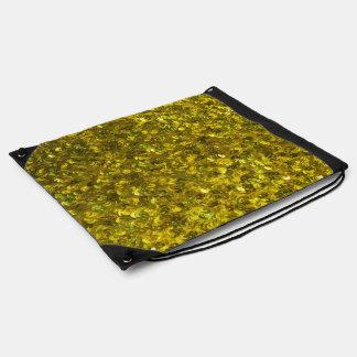 Lentejuelas amarillas mochilas