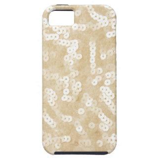 Lentejuelas blancas funda para iPhone SE/5/5s