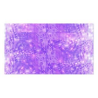 Lentejuelas brillantes púrpuras de la diversión tarjetas de visita
