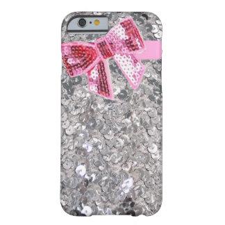 lentejuelas caso de plata del iPhone 6 del arco Funda De iPhone 6 Slim