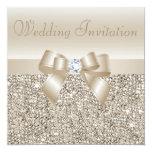 Lentejuelas de Champán, arco y boda de diamante Invitaciones Personales
