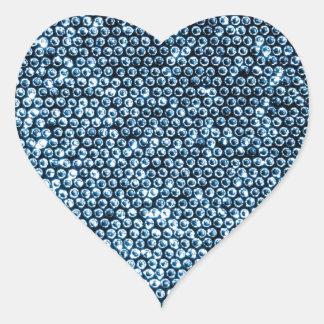 Lentejuelas de plata pegatina en forma de corazón