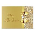 Lentejuelas del oro, arco y reserva del diamante anuncios personalizados