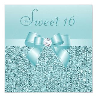 Lentejuelas del trullo, arco y dulce 16 del invitación