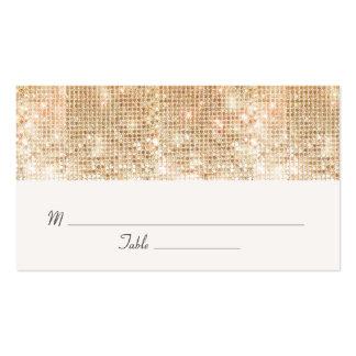 Lentejuelas elegantes del oro que casan la tarjeta tarjetas de visita