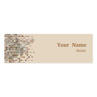 Lentejuelas elegantes tarjetas de visita mini