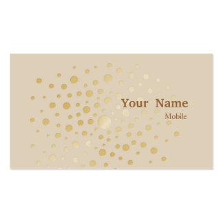 Lentejuelas elegantes tarjeta de visita