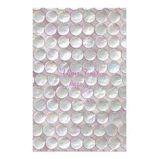 Lentejuelas nacaradas rosadas papelería de diseño