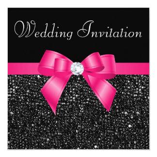 Lentejuelas negras impresas y boda del arco de las invitaciones personalizada