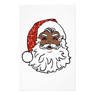 lentejuelas Papá Noel negro Papeleria De Diseño
