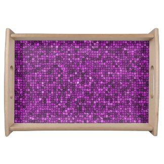 Lentejuelas púrpuras bandeja