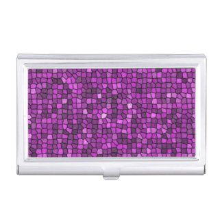 Lentejuelas púrpuras caja de tarjetas de negocios