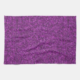 Lentejuelas púrpuras toallas