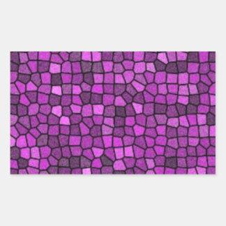 Lentejuelas púrpuras pegatina rectangular
