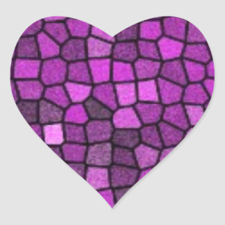 Lentejuelas púrpuras pegatina en forma de corazón