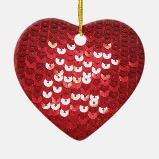 Lentejuelas rojas brillantes ornamente de reyes