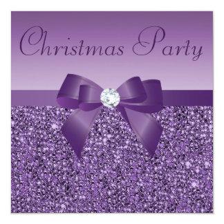 Lentejuelas y diamante impresos fiesta de Navidad Anuncio