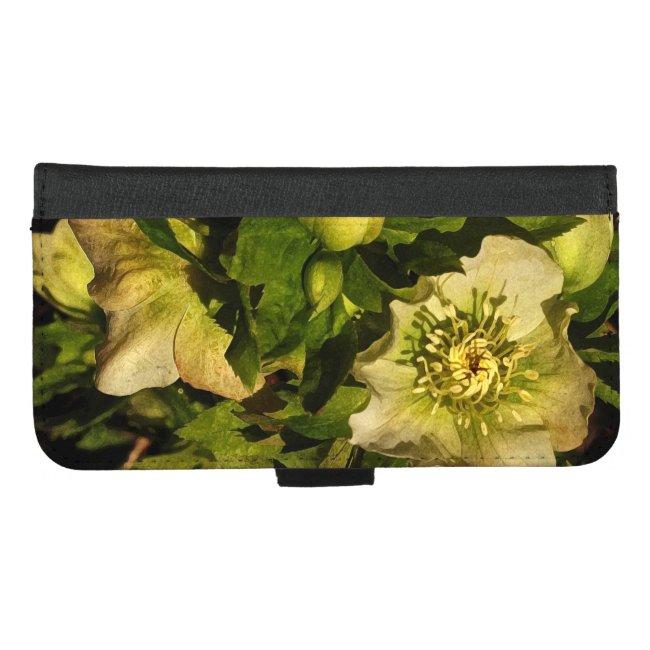 Lenten Rose Flower iPhone 8/7 Plus Wallet Case