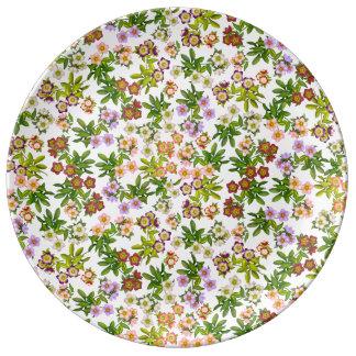Lenten Rose Hellebore Flowers Porcelain Plate