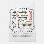 Lentes 01 del vintage toalla de cocina
