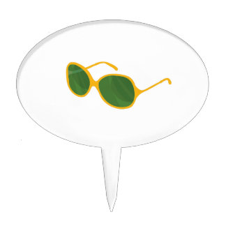 lentes anaranjadas beach.png del verde del marco d decoración de tarta