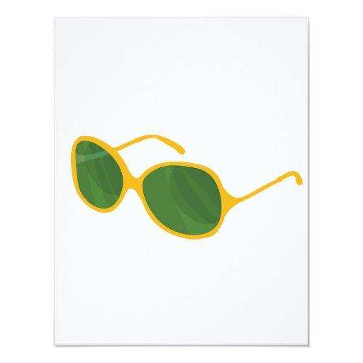 """lentes anaranjadas beach.png del verde del marco invitación 4.25"""" x 5.5"""""""