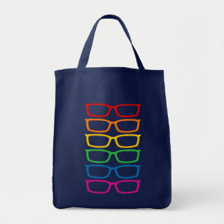 Lentes del arco iris bolsa tela para la compra