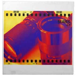 Lentes fotográficas servilleta de papel
