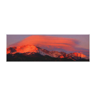 Lenticular Cloud over Pikes Peak Canvas Print