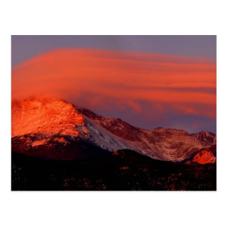 Lenticular Cloud over Pikes Peak Postcard