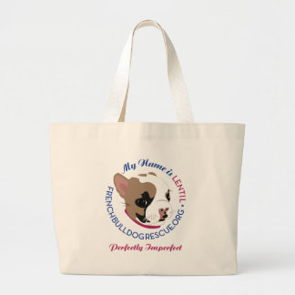 Lentil, Perfectly Imperfect Large Tote Bag