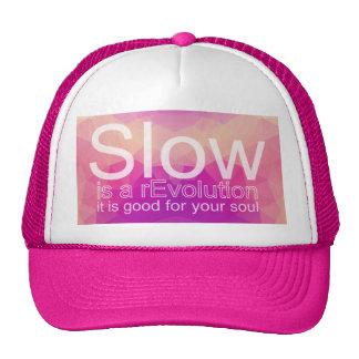 Lento es un gorra polígono rosado y púrpura del |