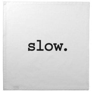 lento servilleta de papel