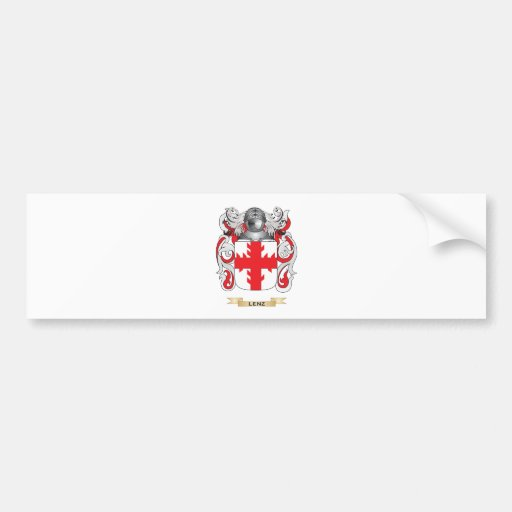 Lenz Coat of Arms (Family Crest) Bumper Stickers