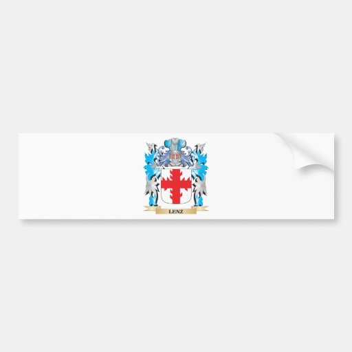 Lenz Coat of Arms - Family Crest Bumper Sticker