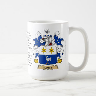 Lenz, the Origin, the Meaning and the Crest Coffee Mug