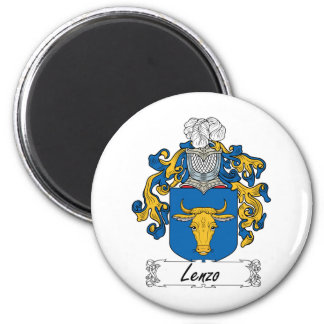 Lenzo Family Crest 2 Inch Round Magnet