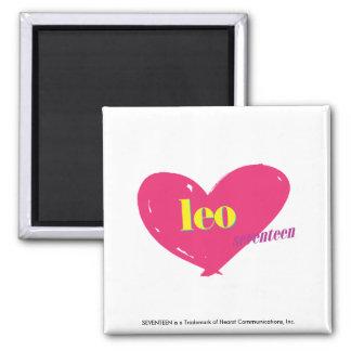 Leo 2 Inch Square Magnet
