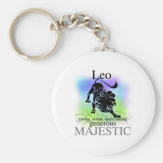 Leo About You Basic Round Button Keychain
