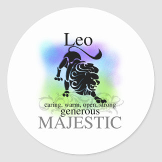 Leo About You Classic Round Sticker
