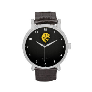 Leo ambarino amarillo reloj