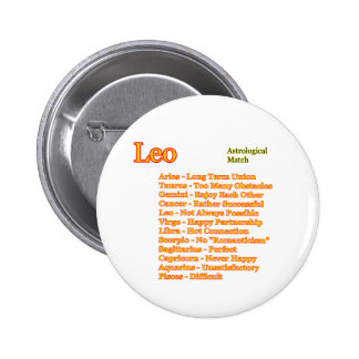 Leo Astrological Match The MUSEUM Zazzle Gifts Pinback Button