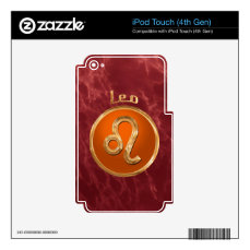 Leo Astrological Sign Decal For iPod Touch 4G