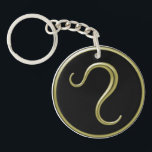 "Leo Astrological Symbol Keychain<br><div class=""desc"">This Leo astrological symbol keychain will make a unique gift for any occasion. The design features the Leo symbol that is colored in gold and set against a black background. The edge features the same gold color as the symbol.</div>"