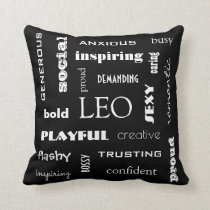 Leo Astrological Throw Pillow