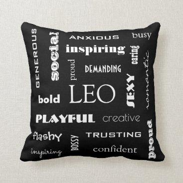 Beach Themed Leo Astrological Throw Pillow