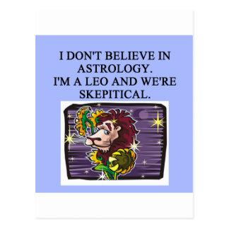 LEO astrology Postcards