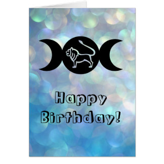 Leo astrology sun sign zodiac birthday card